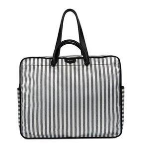 NINE WEST Black & White Polyester XL Tote Bag$99.